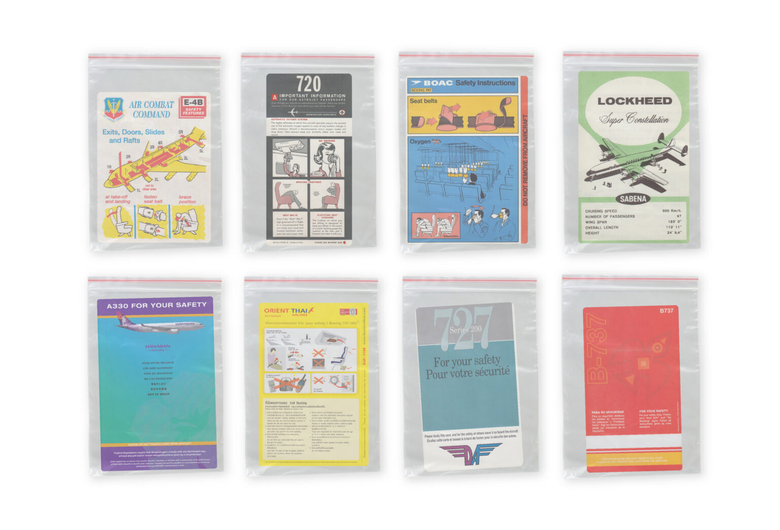 safety cards in drug bags ready to be dealt to other collectors