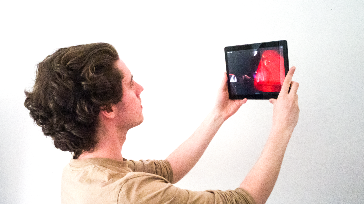 'I May Lack Identity, But I Have Wonderful Teeth' running on an Android Tablet