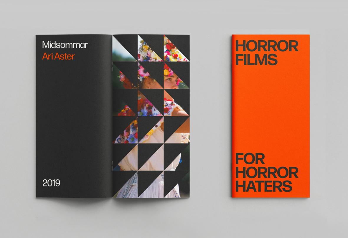Horror films booklet