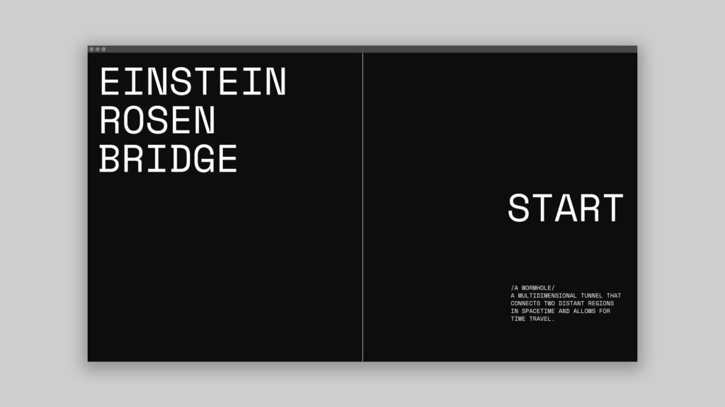 Einstein-Rosen Bridge