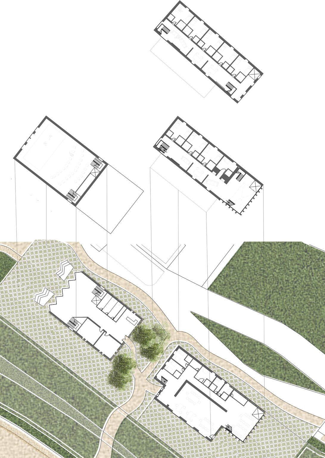 To show layout of buildings