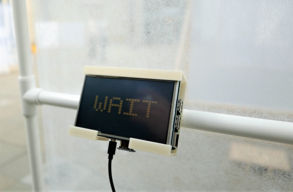 wait on the raspberry pi screen attached to the bus stop