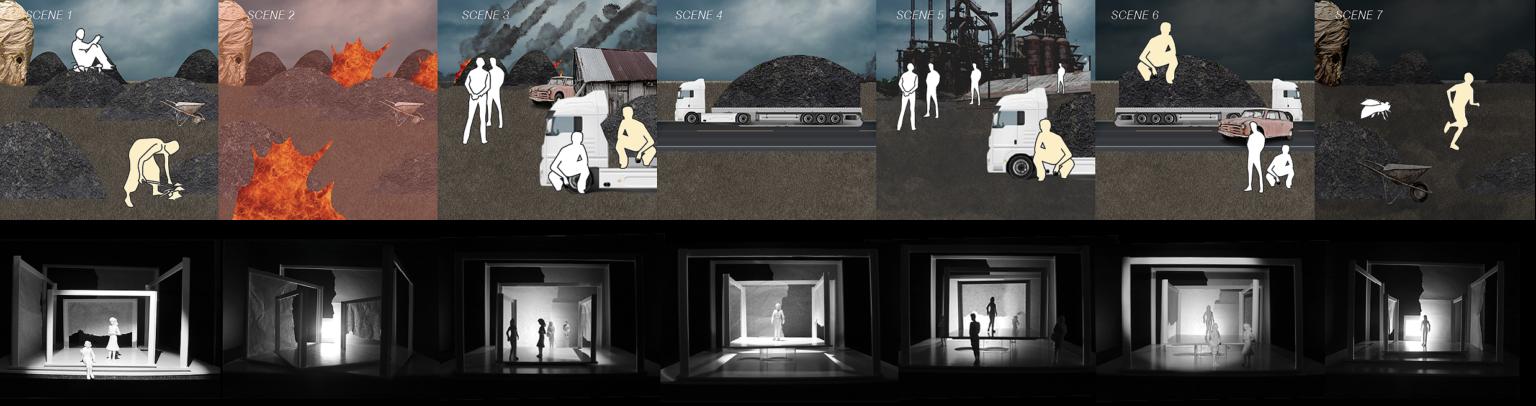 narrative to the seven scenes