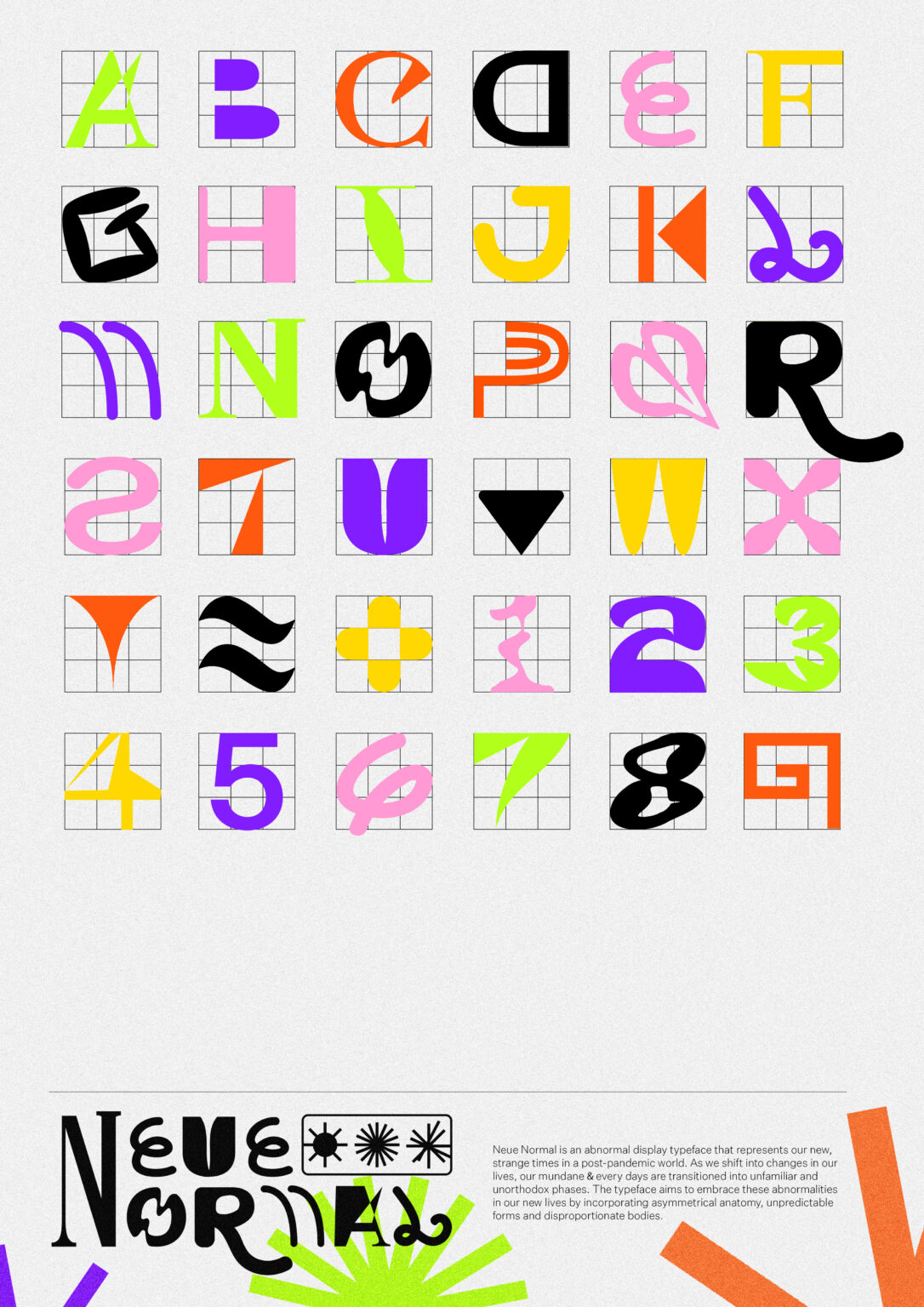 Neue Normal typeface poster