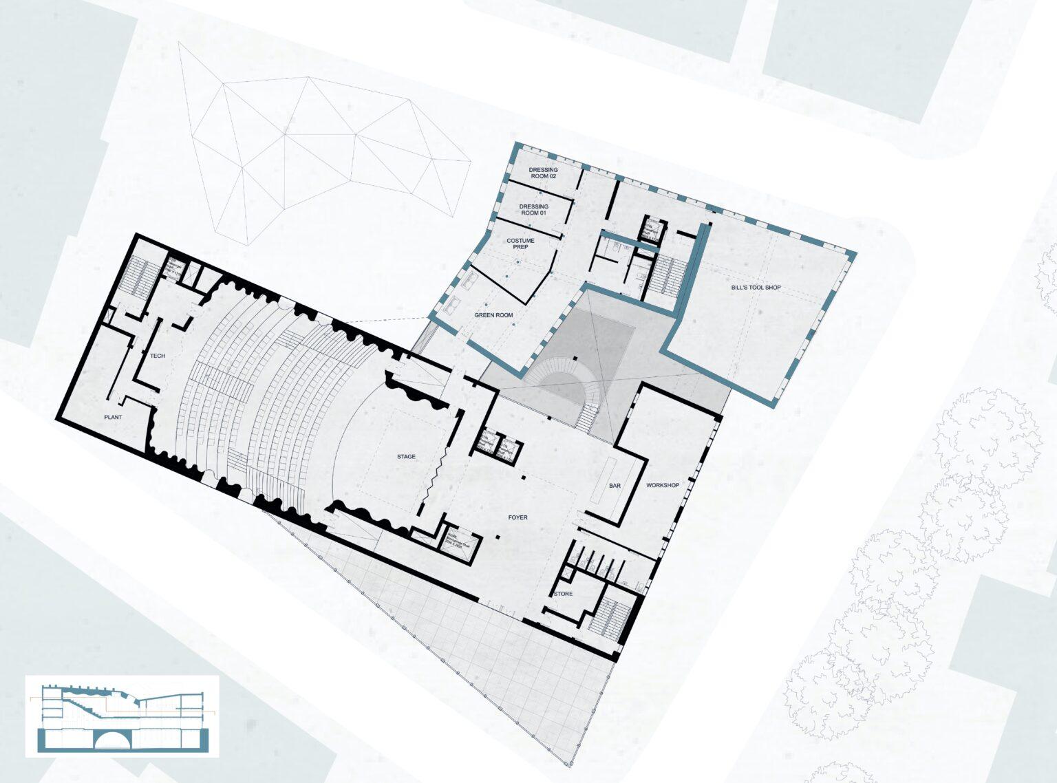 Plan Through Auditorium