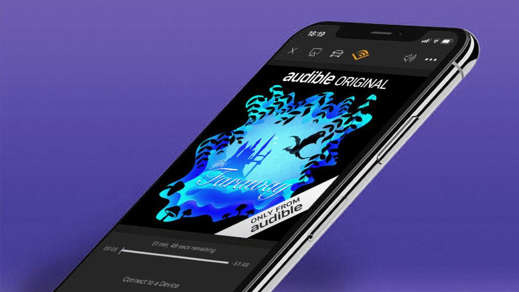 audible mobile app mockup