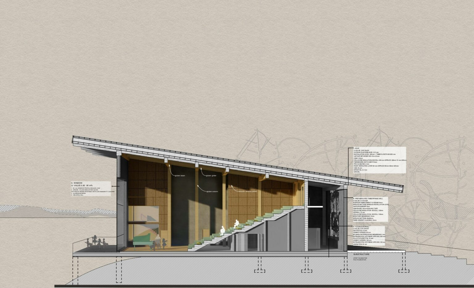 Performance Hall- Perspective section