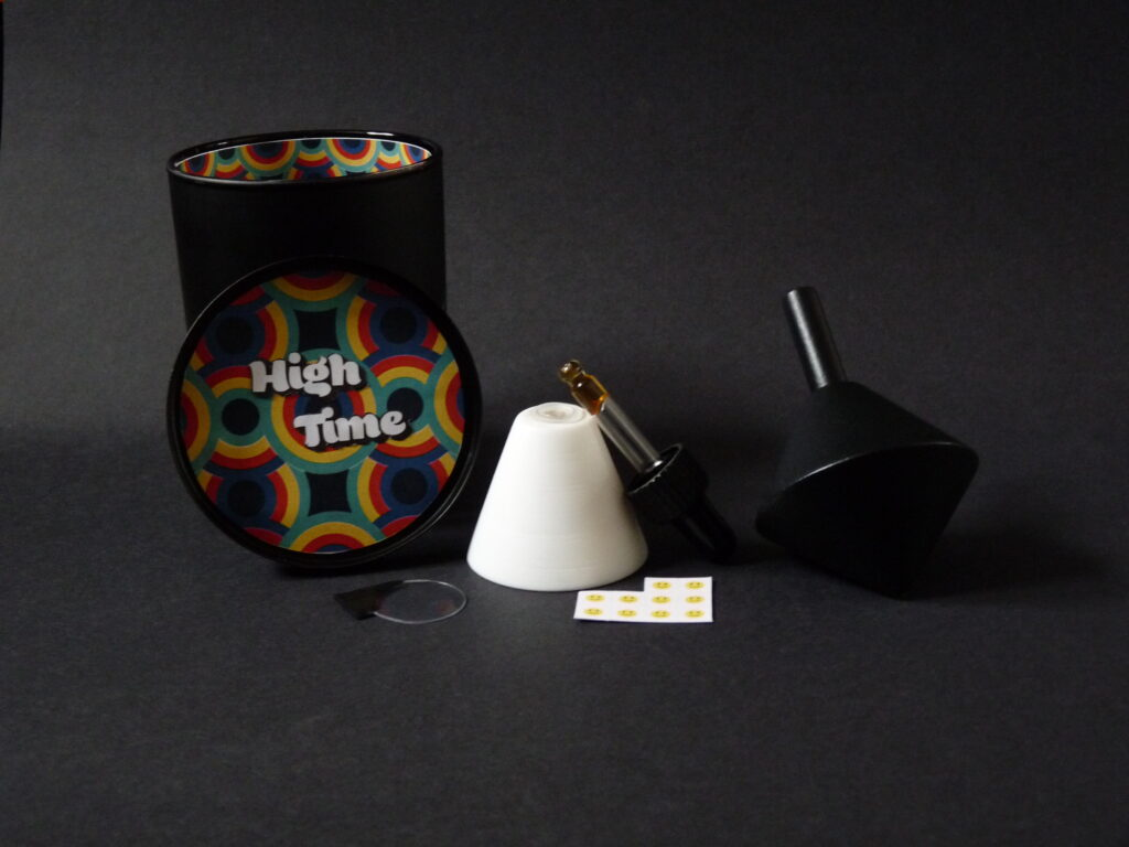 This image shows the set of artefacts making up the 'High Time' kit